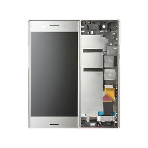 LCD Display Touch Screen Digitizer Silver Frame For Sony Xperia XZ Premium G8142