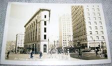 Vintage Forth & Olive Street Scene, Seattle, WA Real Photo Postcard - RPPC