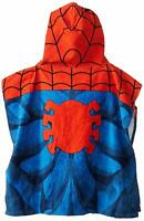 "Jay Franco Spiderman Hooded Towel Classic Little Kids Bath Poncho 22"" X 22"""