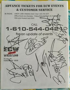 ECW Merchandise Catalogue Signed-Austin Candido, Sunny, Lance Storm, Dudley's