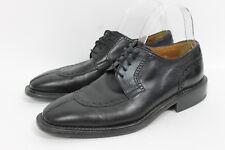 VALLEVERDE Mens Personal Comfort Black Leather Oxford Shoes Split Toe Brogue 39