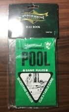 American Heritage Billiards Rule Book includes all Pool Fundamentals and Terms