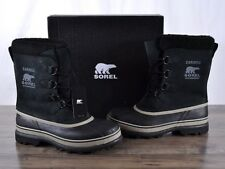 NEW Sorel Men's Winter Caribou Boot 9 MED Black Waterproof NM1000-014 Boots