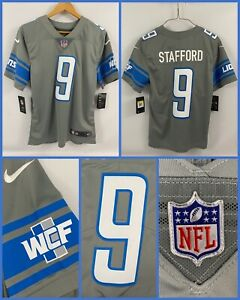 Mens MATTHEW STAFFORD Detroit Lions GRAY Alternate Authentic Nike Limited Jersey