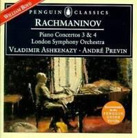 Rachmaninov: Piano Concertos no 3 and 4 / Ashkenazy, Previn (Penguin - VERY GOOD