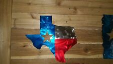 """TEXAS SIGN WITH FLAG COLORS AND STAR""""  Hand Made in Waco Texas WALL ART DECOR"""
