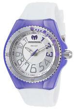 Ladies TechnoMarine Cruise White Silicone Band Purple Cover Watch TM-115223