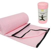 "Hot Yoga Towel Super Soft Sweat Absorbent Non-Slip Bikram Pilates Mat 24"" X 68"""