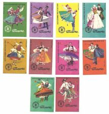 MATCHBOX LABELS Polish set of 10 folk dances Slask POLAND vintage ethnic costume