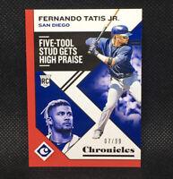 #/99! 🚨2019 Panini Chronicles Five-Tool Fernando Tatis JR RC #6 Padres Rookie