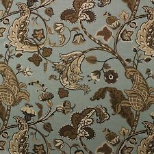 "COVINGTON WILMINGTON ROBINS EGG BLUE FLORAL MULTIUSE LINEN FABRIC BY YARD 54""W"