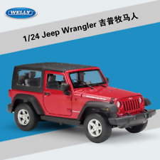 Welly 1:24 Jeep Wrangler Diecast Metal Model Car New in Box Red