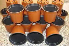 150 X ROUND 10.5cm 4 INCH  FULLSIZE TERRACOTTA  PLASTIC PLANT POTS