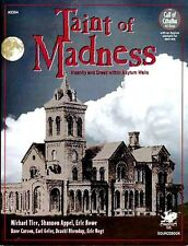 TAINT OF MADNESS 2354 VF! Chaosium COT Call of Cthulhu H.P. Lovecraft RPG Game