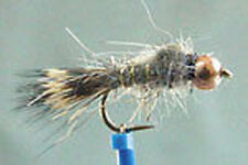 10 x Mouche peche Nymphe Lievre BILLE CUIVREE H10 a 20 nymph fly fishing hare