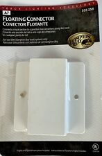 Hampton Bay 555-258 Track Lighting Floating Connector Feed Connector White NEW