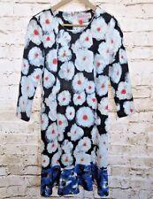 Philosophy Dresses Size Medium Republic Clothing Modest Flowered Blue White NWT