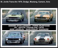Dodge,Mustang,AMX,Camaro,St.Jovite Trans-Am 1970 Car Poster Great Shot!