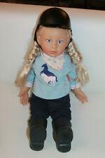Zapf Creation Puppe Reiterin Lara Stoffpuppe Kuschelpuppe Weichpuppe Schuhe 45cm