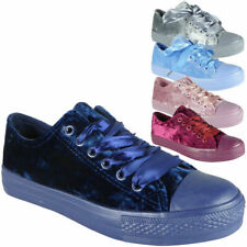 Ladies Running Trainers Womens Velvet Ribbon Fitness Lace Up Gym Sports Shoes