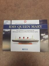 Atlas Editions - RMS Queen Mary luxury liner 1:1250  New With COA