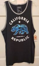 Mens Tank T-shirt Urban Pipeline California Republic Scooped Neckline NWT XL L M