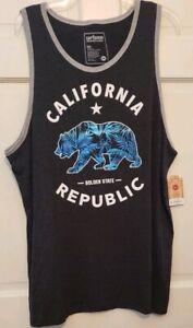Mens Tank T-shirt Urban Pipeline California Republic Scooped Neckline NWT L M