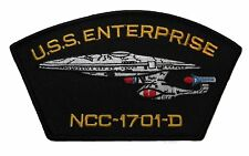 "USS Enterprise Patch (6"") Star Trek Embroidered Iron on Badge U.S.S. Star Ship"