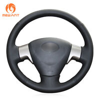 Hand Sew Black Leather Steering Wheel Cover for Toyota Matrix Auris Corolla 2009