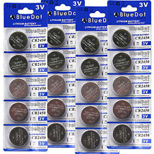 Wholesale 20 pcs New CR2450 DL2450 BR2450 Button Cell Coin Battery for Toy Watch
