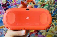 Sony PlayStation PS Vita Slim 2000 PSV Neon Orange Handheld Console + Charger