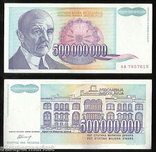 "RARE 1993 ""YUGOSLAVIA BANK NOTE"" CURRENCY ""500000000 DINARA"" P# 134"