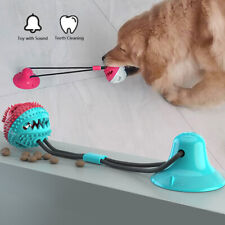 Pet Dog Chew Toys for Aggressive Chewers Treat Food Dispenser Ball & Suction Cup