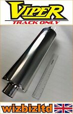 Suzuki SV650 1999-2009 [Viper Track Only Exhaust End Can] [Alloy Oval] EXC901
