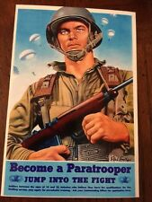 4X6 Print Ww2 USA Airborne Ranger US Army flames of war Bolt Action Com Dec