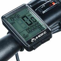 NOUVEAU vélo bicyclette compteur de vitesse sans fil LCDrétro-éclairage fonction