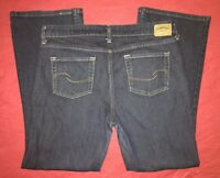 Levi Strauss Signature Dark Blue Low Rise Boot Cut Misses 12S Jeans 34x29""