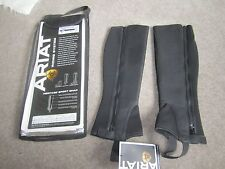 Ariat Heritage Sport Half Chap - Black - ST Small Tall - CLEARANCE