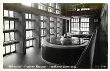 North Carolina, NC, Fontana Dam, Interior, Power House Real Photo Postcard