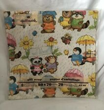 Vintage Hallmark Cards SHIRT TALES Characters GIFT WRAPPING Paper NEW in Package