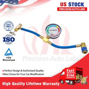 "1/2"" R-134a Recharge Measuring Hose Pressure Gauge AC Refrigerant Charging Pipe"