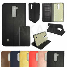 PU Leather Book Wallet Flip Stand Protective Case Cover For LG Stylus 2 Plus