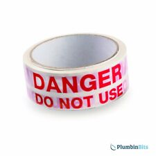 Rothenberger roll Plumbers DANGER DO NOT USE Appliance Warning Tape 6.7083 33mtr