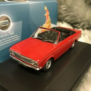 NEW Oxford Diecast 1:43 Ford Cortina Mk2 Crayford Convertible Dragon Red 43CCC03