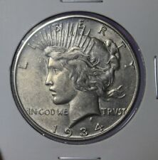 1934-S Peace Silver Dollar CHOICE AU /+ ** High Grade ** RARE Key Date!!