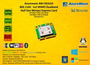 RTL8821AE AW-CB161H Dual Band 802.11a/b/g/n/ac WLAN+Bluetooth 4.0 Mini PCIe