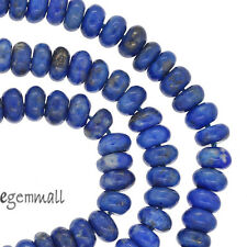 "15.6"" Natural Lapis Lazuli Rondelle Roundel Beads 6mm Grade AB #72066"