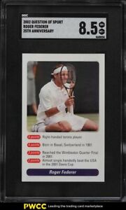 2002 Question Of Sport Roger Federer ROOKIE RC SGC 8.5 NM-MT+