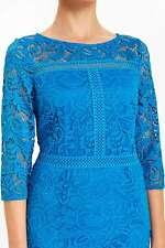Light Blue Lace Panel Shift Dress 20