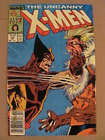 Uncanny X-Men #222 Marvel Newsstand Edition Wolverine battles Sabretooth